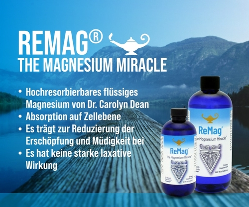 ReMag - The Magnesium Miracle   Dr. Dean´s piko-ionisches flüssiges Magnesium - 240ml